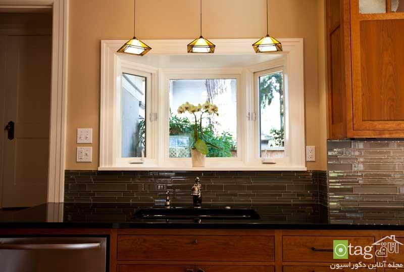 مدل های خلاقانه تزئین و طراحی دیوار پشت ظرفشویی در آشپزخانه