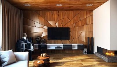 راهنمای طراحی بافت دیوار اتاق نشیمن و پذیرایی خانه