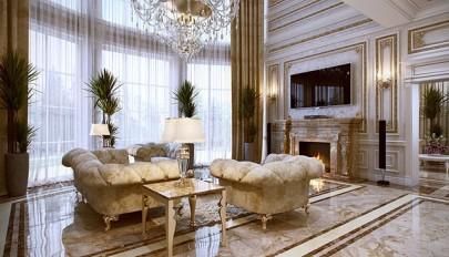 دکوراسیون منازل گران قیمت و لوکس به سبک کلاسیک فرانسوی