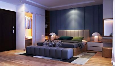 اتاق خواب دو نفره بزرگ با طراحی فوق العاده شیک و مدرن