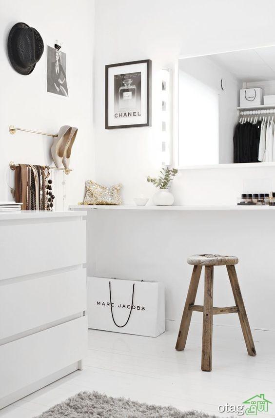 25 مدل جدید میز آرایش عروس با آینه برای اتاق خواب [شیک و منحصر بفرد]