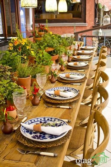 راهنمای چیدمان میز غذاخوری بسیار زیبا و مدرن+38عکس جدید