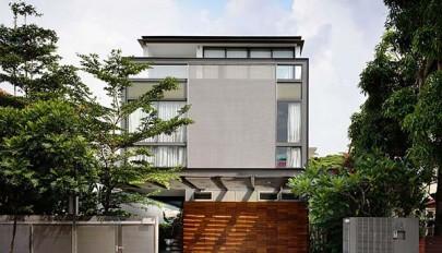 بررسی نمای داخلی و خارجی منزل مسکونی مدرن در کشور سنگاپور