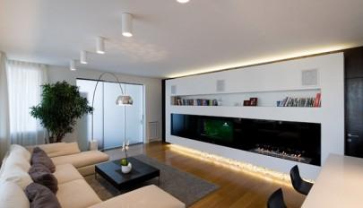 معماری داخلی مدرن و نوین در واحدهای آپارتمانی کوچک