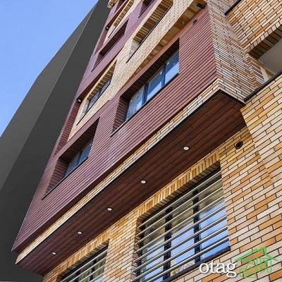 48 مدل نمای خانه یک طبقه و دو طبقه با ترکیب چوب در سال2020
