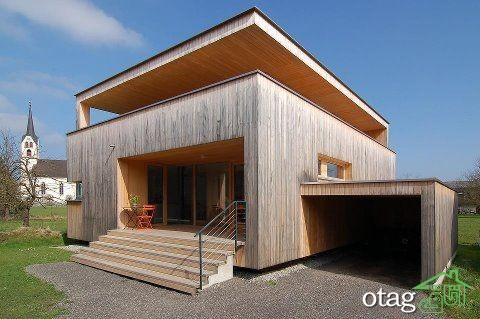 39 مدل نمای چوبی ویلا بسیار زیبا و شیک [در سال جدید]