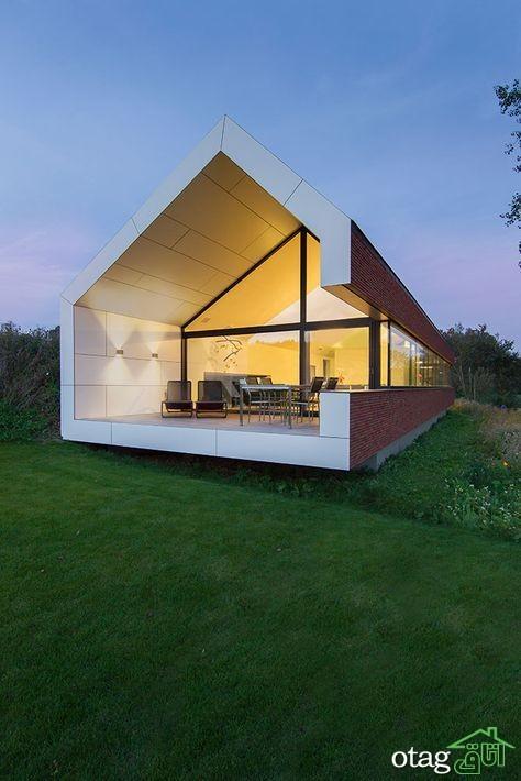 35 مدل نمای چوبی ساختمان مدرن و هوشمندانه [با طراحی بی نظیر] جدید