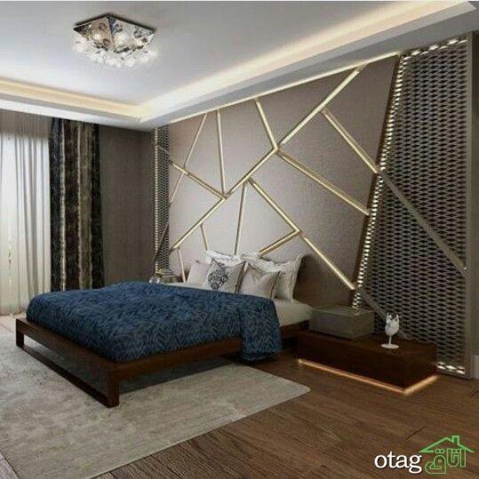 33 مدل نورپردازی دیوار دکوراسیون اتاق خواب شیک و مدرن