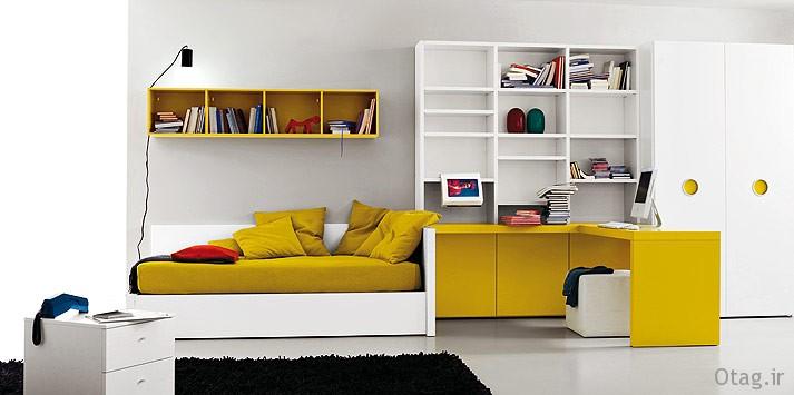 ochre-white-bed-room