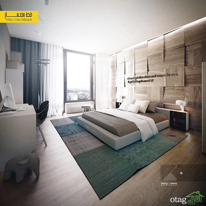 30 مدل تزیین دکوراسیون داخلی اتاق خواب با چوب و [اتاق چوبی لوکس]