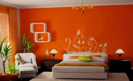 30 مدل تزیین چیدمان ودکوراسیون اتاق خواب نارنجی و پرتقالی [منحصر بفرد]
