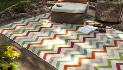 قالیچه مناسب محیط خارجی خانه در طرح و رنگ های جدید و متنوع