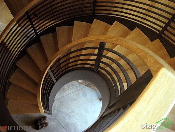 28 مدل راه پله شیک جدید و مارپیچی از چوب و استیل برای منزل و مغازه