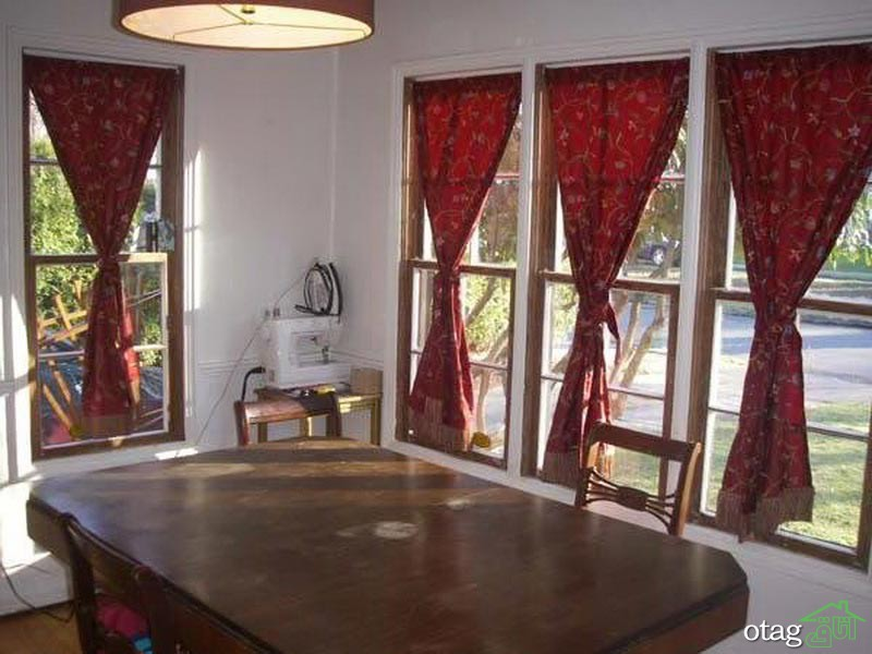 red-kitchen-curtains