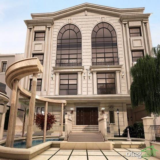 30 مدل نمای رومی ساختمان [ نمای کلاسیک ] ایرانی و خارجی 2019 / عکس