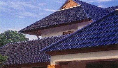 مدل سقف شیروانی ویلا با پوشش سفالی جدید در رنگ های مختلف