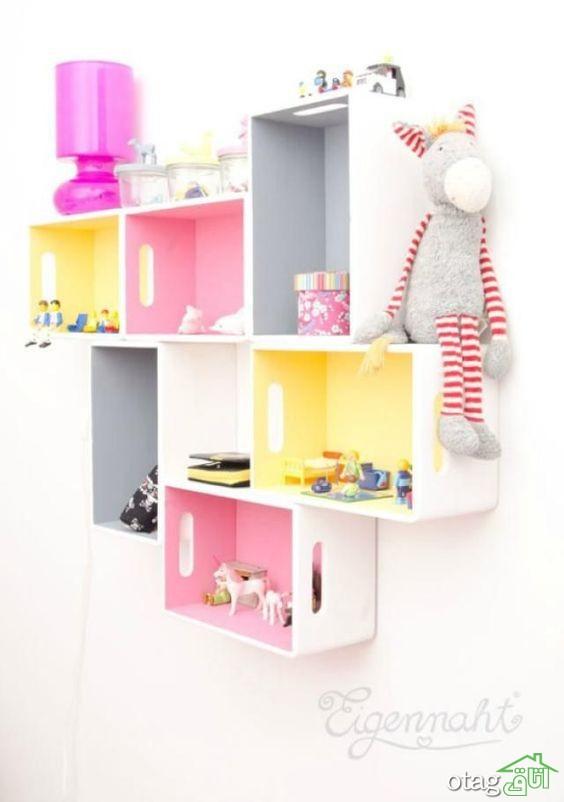 25 مدل شلف اتاق کودک [قفسه دیواری] خلاقانه برای اتاق های مدرن