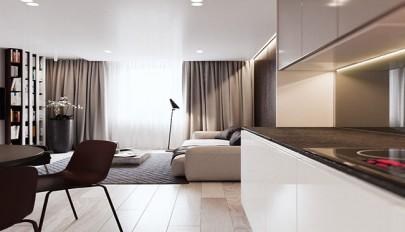 طراحی داخلی آپارتمان 80 متری با دکوراسیون ساده و شیک