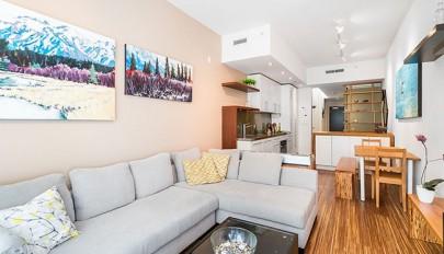 طراحی داخلی آپارتمان 60 متری به روشی خلاقانه و کارآمد