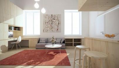 دکوراسیون مدرن آپارتمان کوچک 15 و 25 متری با تزئینات شیک