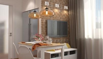 چیدمان و دکوراسیون داخلی خانه های شیک زیر 50 متر مربع
