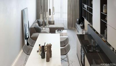 آپارتمان کوچک و لوکس با دکوراسیونی کم هزینه برای قشر متوسط