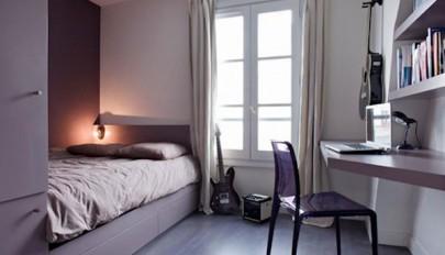دکوراسیون و چیدمان اتاق خواب کوچک به شکل دلباز و جادار