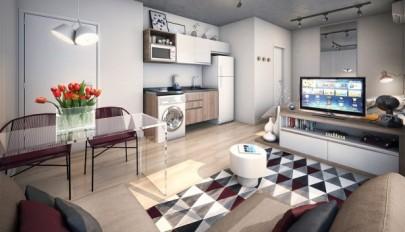 دکوراسیون داخلی استدیو آپارتمان کوچک و بسیار شیک