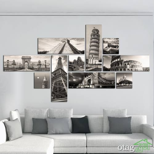 31 مدل تابلو دیواری چند تکه به همراه قیمت و لینک خرید (تابلو شیک هنری)