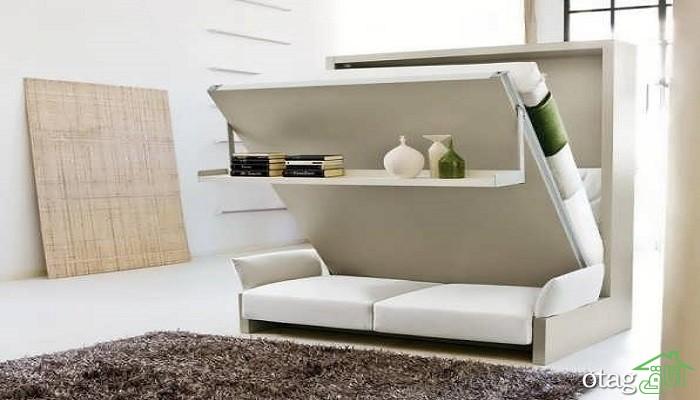 38 مدل جدید تخت خواب تاشو در دکوراسیون اتاق کوچک [تختخواب کمجا]