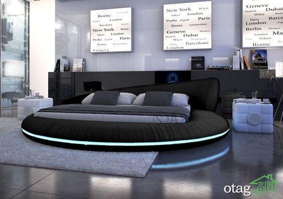 28 مدل تخت خواب مدرن و کلاسیک چرمی [منحصر بفرد] دو نفره