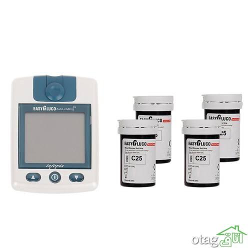 خرید 34 مدل دستگاه تست قند خون [ حرفه ای و دیجیتالی ] با ارسال رایگان