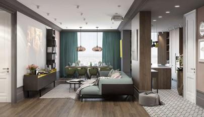 مدل خانه های مدرن با رنگ روشن در طراحی دکوراسیون داخلی