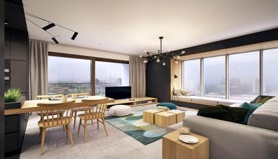 شاهکار معماری داخلی در آپارتمانی بسیار شیک، مدرن و امروزی