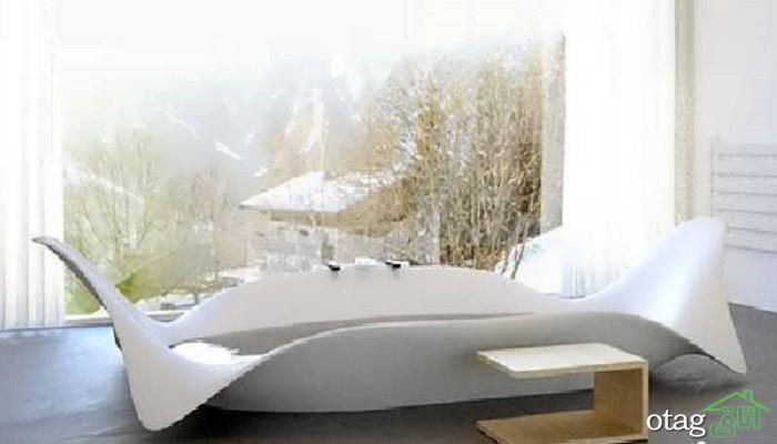 20 نمونه مدل وان حمام خیره کننده لوکس و زیبا و راهنمای خرید - وان جکوزی