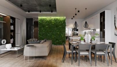 مدل باغچه عمودی بسیار شیک و زیبا در دکوراسیون داخلی منزل