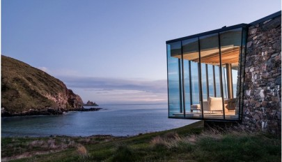 خانه ویلایی بر فراز کوه آتشفشان سپری خاموش با انرژی تجدید پذیر