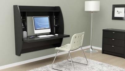 مدل های جدید میز کامپیوتر دیواری مناسب اتاق خواب های کوچک
