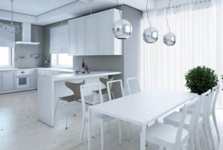چیدمان با رنگ سفید در دکوراسیون و طراحی داخلی آپارتمان