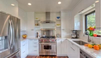 مدل های مدرن و شیک کابینت آشپزخانه سفید در دکوراسیون منزل