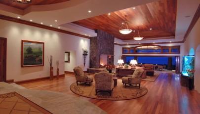 مدل طراحی سقف منزل با استفاده از پانل های چوب طبیعی