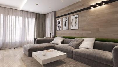مدل دیوارپوش چوبی در واحدهای آپارتمانی مدرن و امروزی