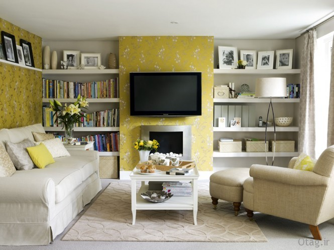 yellow-wallpaper-living-room-665x498